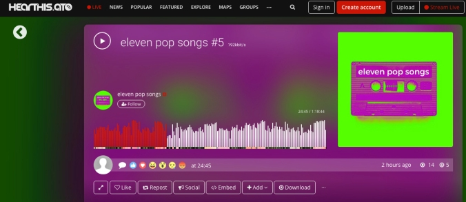 eleven pop songs